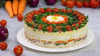 """Слоёный салат на праздничный стол """"Застольный гость"""""""