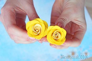 Очень красивые маленькие розы из фоамирана своими руками!