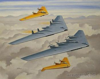 Летающие крылья Нортропа: Опытные бомбардировщики XB-35 и YB-49