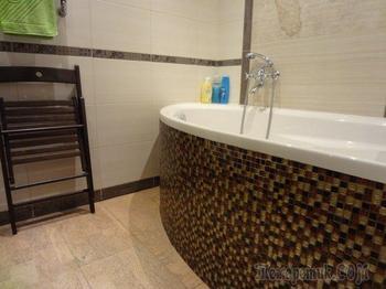 Ванная: пробковый пол и нестандартный смеситель, который озадачивает гостей