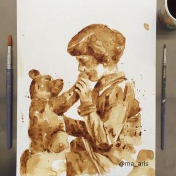 Замечательные рисунки, созданные с помощью кофе
