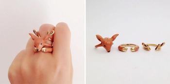 Кольца в виде животных от Мэри Лу