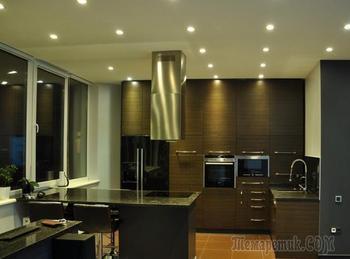Черный цвет в интерьере - холостяцкая квартира