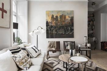 Теплый декор для скандинавской квартиры (94 кв. м)