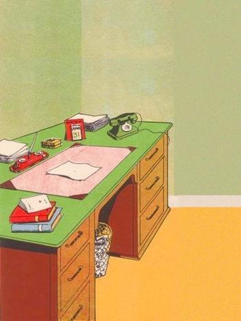 С этим столом что-то не так, ну-ка найдите, в чём подвох!