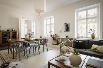 Прекрасная скандинавская квартира в теплых тонах