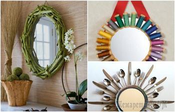 20 эффектных идей, как из обычного зеркала сделать изюминку любого интерьера