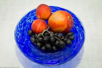 Ваза для фруктов из стекла