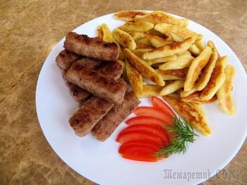 Немецкие клецки schupfnudeln с чесночными колбасками