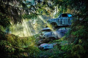 Кладбище машин в фотографиях Dieter Klein