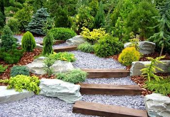 40 Потрясающих примеров лестниц и ступенек в саду