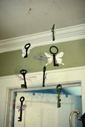 17 потрясающих идей декора с использованием старых ключей