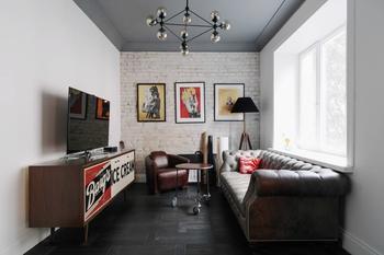 Стиль лофт в интерьере квартиры 85 кв. м.