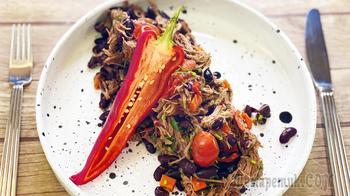 Чили кон карне - мясо с фасолью | Мексиканская кухня