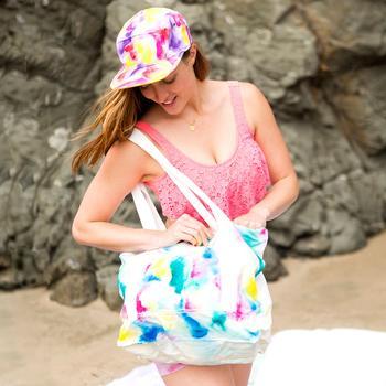 4 пляжных аксессуара с акварельным принтом своими руками
