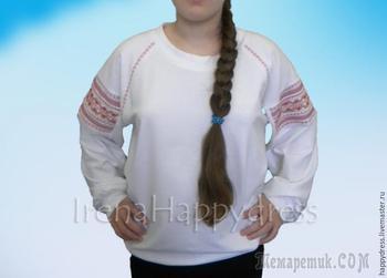 Шьём свитшот в русском стиле
