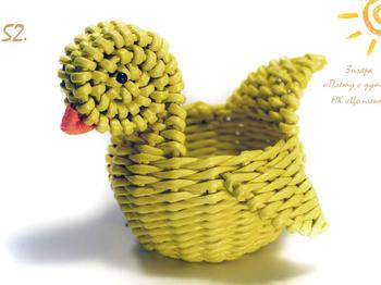 Плетем милого цыпленка на праздник светлой пасхи,мастер-класс