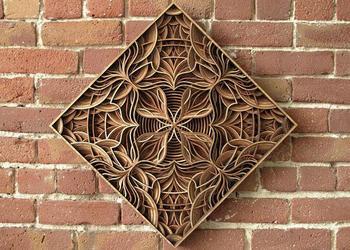 Потрясающие многослойные орнаменты из дерева