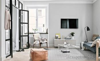 Скандинавский минимализм на 48 м²