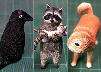 Художник создает фигурки животных по забавным интернет-мемам