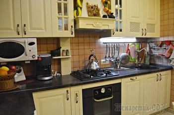 «Расширили кухню за счет лоджии: — история ремонта кухни