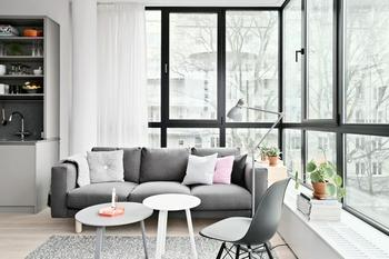 Квартира залитая светом в Стокгольме (71 кв. м)