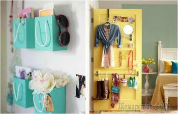 Интересные идеи организации пространства и хранения вещей в маленькой спальне