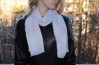 Весенний шарфик за 10 минут