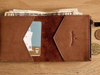 Кошелек для бумажных денег и монет своими руками