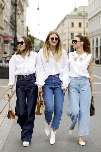 Как носить белую рубашку: 10 модных образов