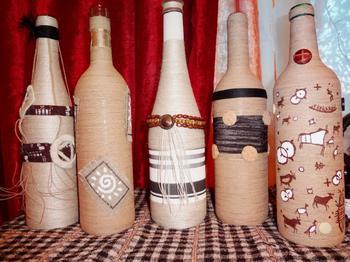 Декор бутылок: лучшие техники оформления своими руками