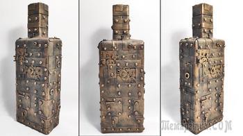 Декор бутылки в стиле стимпанк. Подарок мужчине на 23 Февраля