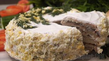 """Закусочный торт """"Добрый Муж"""". Вкусно, красиво и прикольно!"""