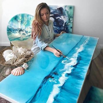 Морские пейзажи из эпоксидной смолы