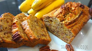 Обалденный банановый хлеб ( всё смешал и в духовку ) // Банановый кекс