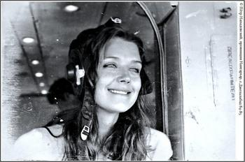 Ирина Алферова в Афганистане, 1985 год