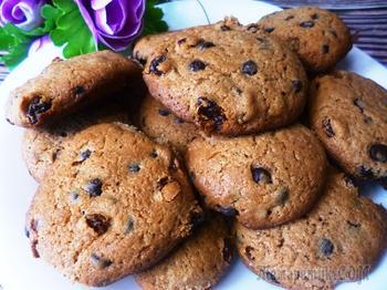 Цельнозерновое печенье с шоколадом