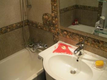 Ванная: фриз из 35 литров черноморских ракушек