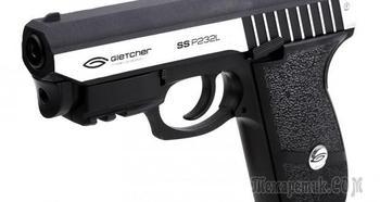 Газобаллонный пневматический пистолет Gletcher SS P232L с особой конструкцией и высокой мощностью