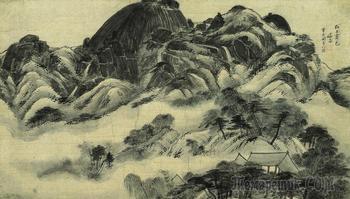Корейская живопись. Кёмджэ Чон Сон - Gyeomjae Jeong Seon (겸재 정선). 1676-1759