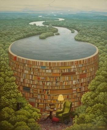 Самые интересные примеры рекламы книг, чтения и библиотек.