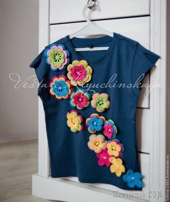 Цветочный декор детских вещей или как легко и быстро получить красивый наряд