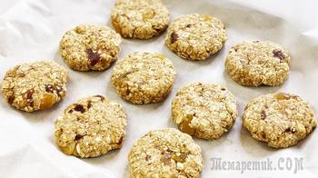 Постное печенье - без муки, яиц, масла | Пп печенье из овсянки | Постная выпечка