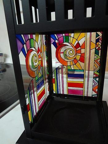 Роспись фонаря витражными красками