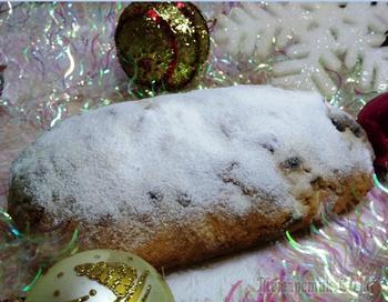 Рождественский штоллен очень вкусный