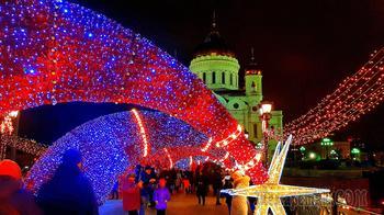 Москва новогодняя 17. Храм Христа Спасителя и Патриарший мост