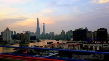 Китай 2018. 02. Шанхай. Из аэропорта Пудонг до гостиницы и вокруг нее