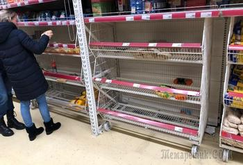 Россияне устроили ажиотаж из-за продуктов