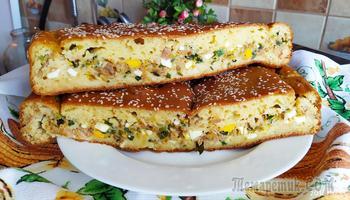 Восхитительный рыбный пирог с яйцами и зеленью
