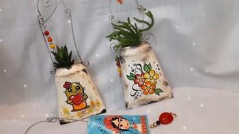Горшочки-кулёчки для украшения сада